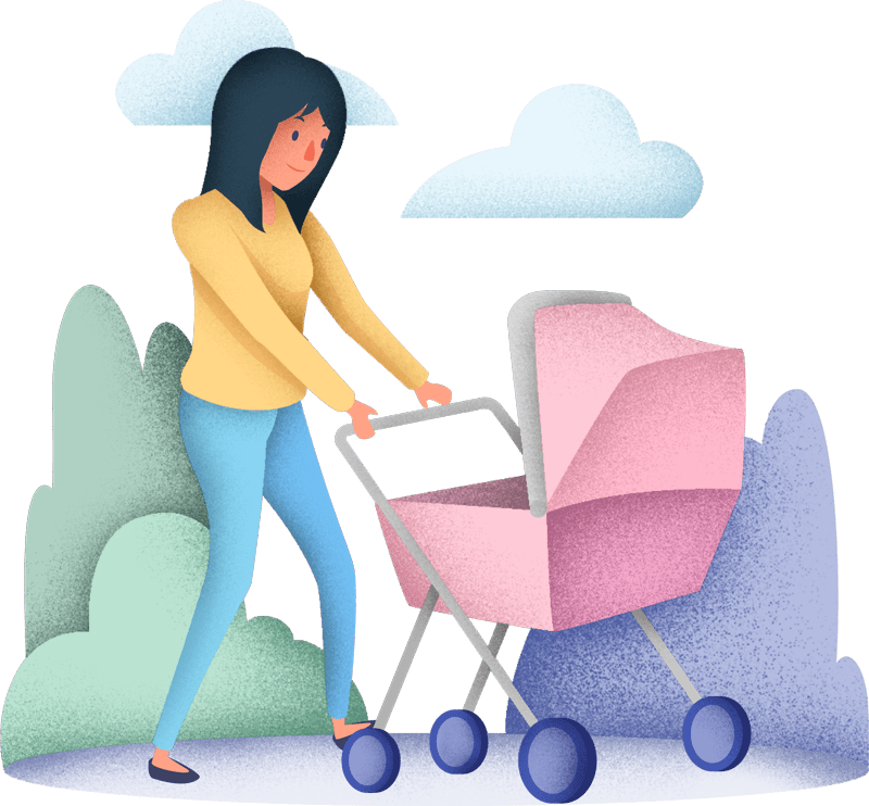 babysitter, nanny or nurse doing newborn care