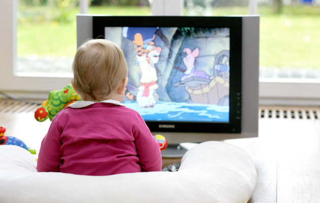 Avoid TVs for babies younger than two years!